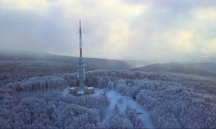 Csodálatos drónfelvételt készítettek a Kékesről