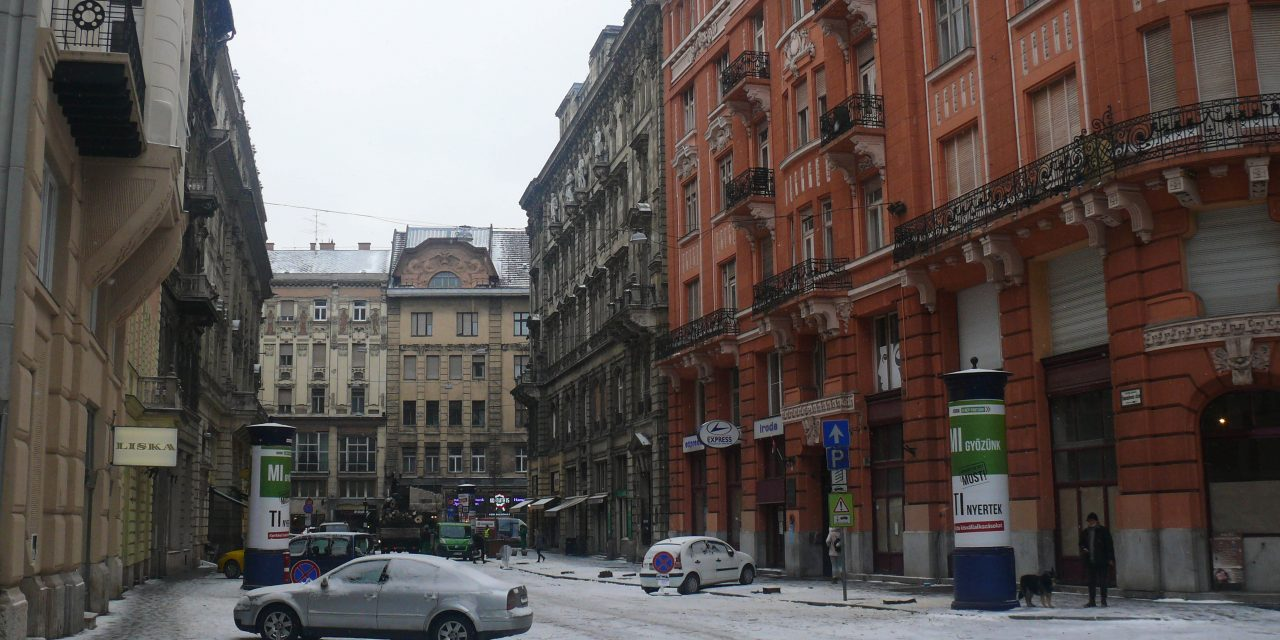 Kivágták a fasort az 5. kerületi Semmelweis utcában