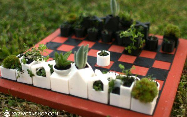Kaktusz lép c3-ra, üti rozmaringot, sakk!
