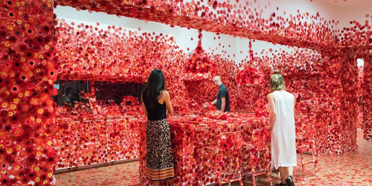 A Pöttyök Királynője piros művirágokkal borított be egy lakást