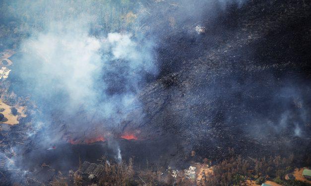 Így pusztít a hömpölygő láva Hawaiion