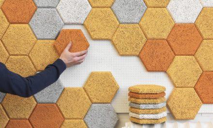 Fagyapjúból készült méhsejt alakú hangszigetelés az új dili