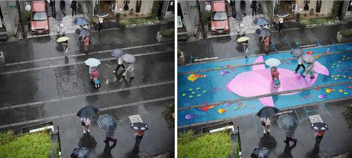 Ami Budapestre is kéne: esőre aktiválódó streetart