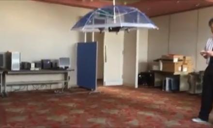 Drónhajtású napernyőt fejlesztettek ki a japánok