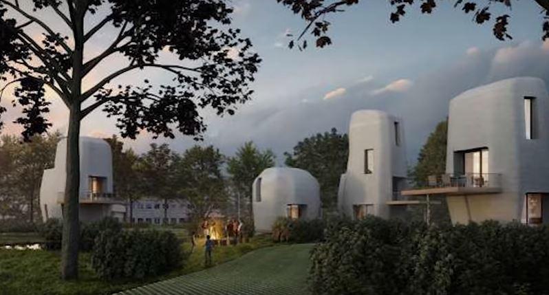 Lakóházakat építenek háromdimenziós nyomtatóval Eindhovenben