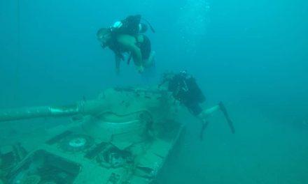 Régi tankokból alakítottak új élőhelyet a tenger állatainak Libanonnál
