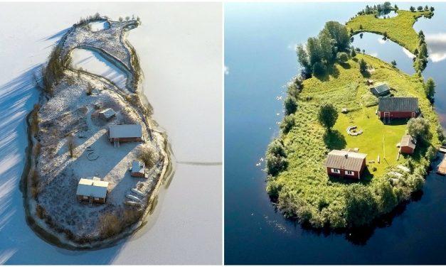 Csodás légifotók egy finn sziget változásairól
