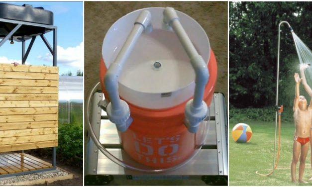 A hőségre pont kész lesz: építsünk kerti zuhanyt!