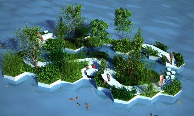 Szemétből építenek úszó parkokat a hollandok