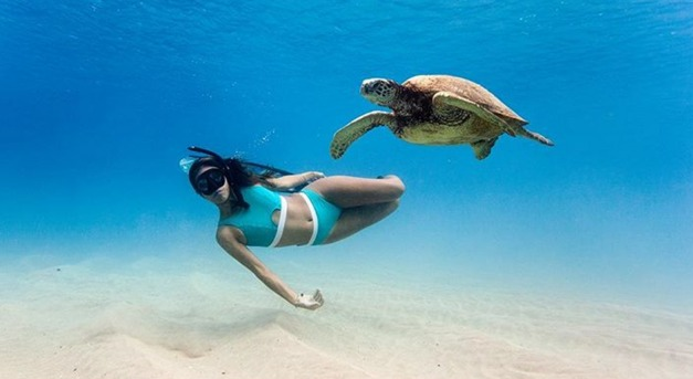 Magyar bikini, újrahasznosított tengeri hulladékból
