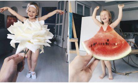 Karfiolszoknyába és petrezselyemruhába öltözteti kislányát a kreatív anyuka