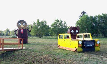 A ti szalmabála-figurátok menőbb Mr. Beannél?